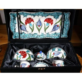 Tulip and Clove Pattern Coffee Set