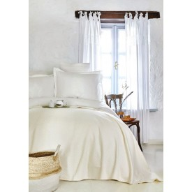 Karaca Home Elonora Ecru Double Lacy Duvet Cover Bamboo Pique Set
