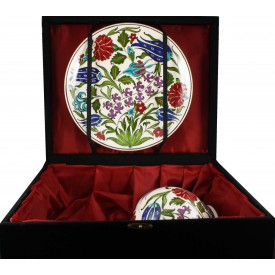Flower Garden Vase and Plate Set