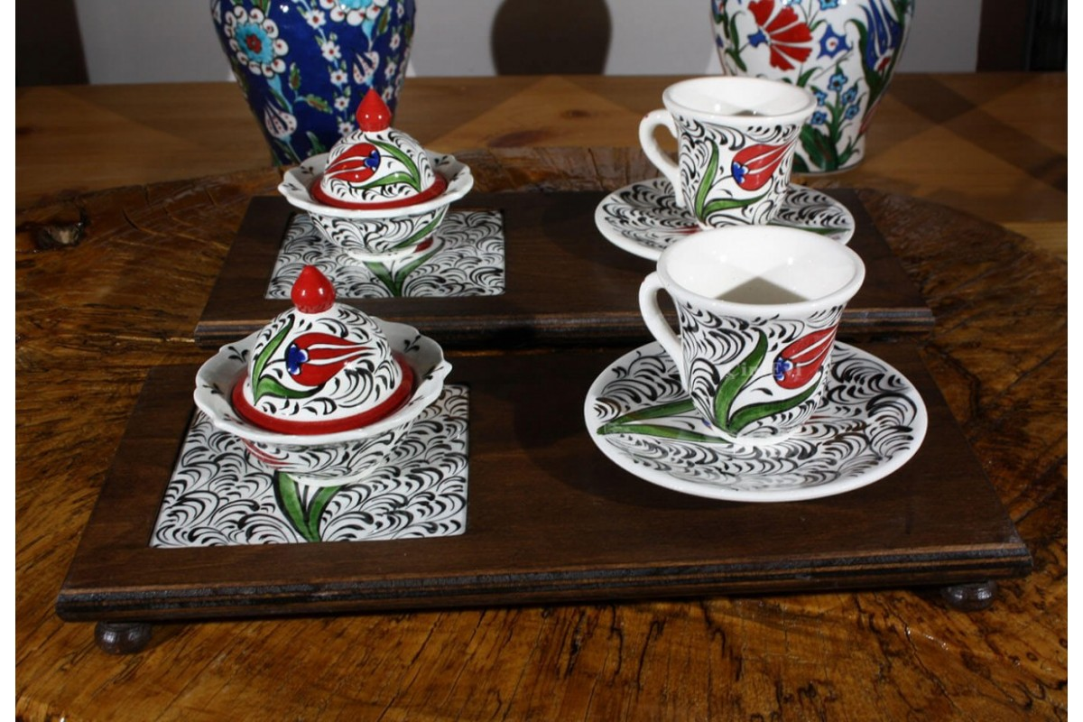 Golden Horn And Tulip Vip Coffee Set