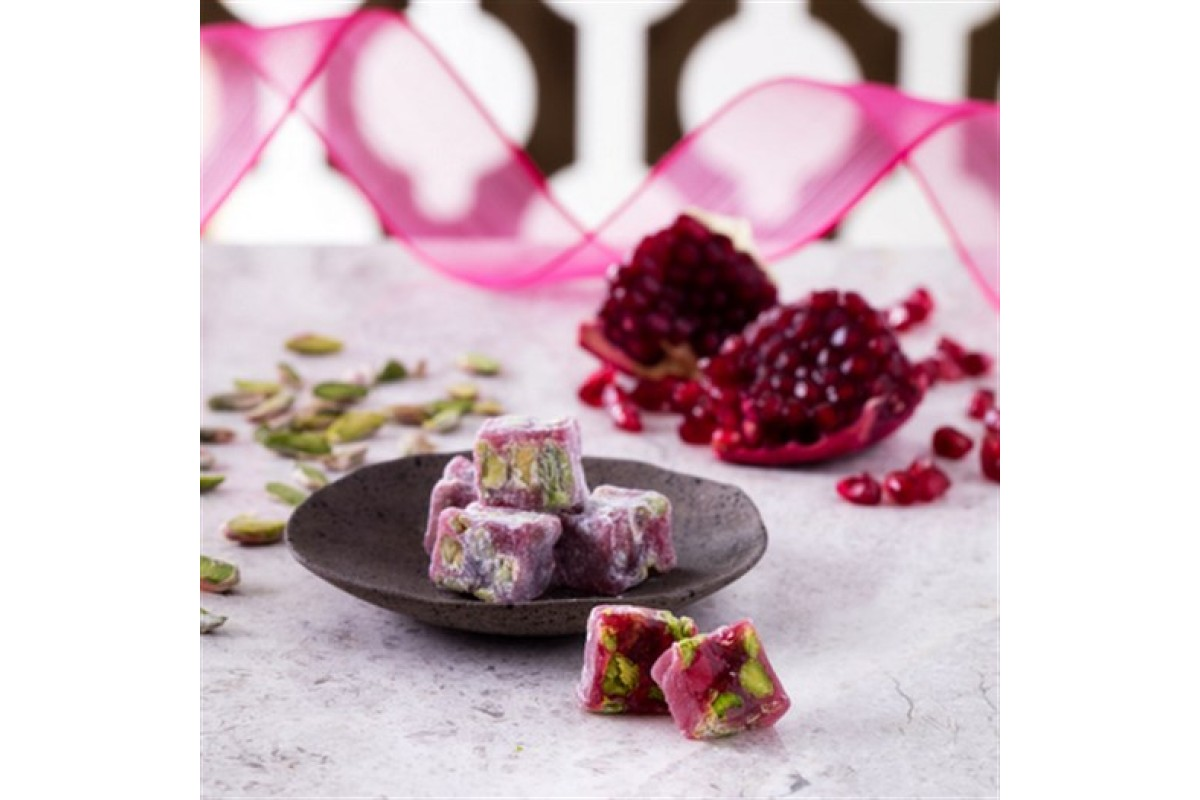 HAFIZ MUSTAFA POMEGRANATE DOUBLE PISTACHIO TURKISH DELIGHT